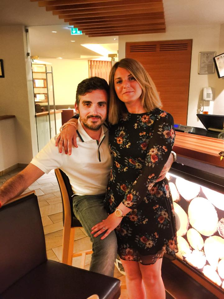 Marco con Laura, sua compagna e futura moglie